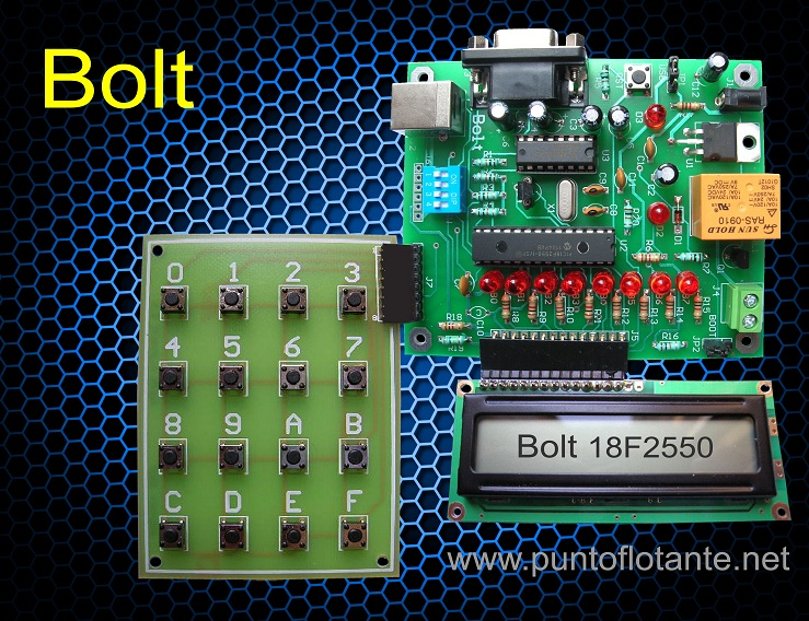Bolt 18f2550 Open Source Hardware Pic Microcontroller